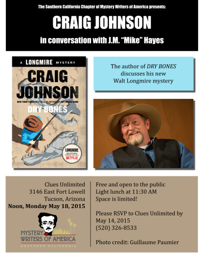 "SoCalMWA Event Craig Johnson in conversation with J.M. ""Mike"" Hayes"
