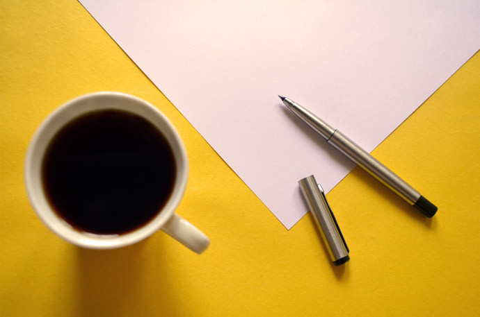 coffee and pen image